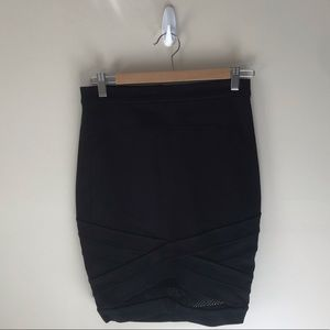 Guess Pencil Skirt with Mesh Detail on Bottom